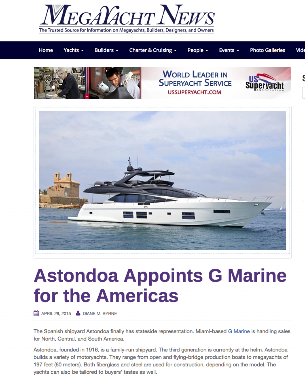 G Marine Exclusive Astondoa Dealer for the Americas